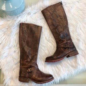 Bed Stu Glaye Riding Boots in Teak Rustic